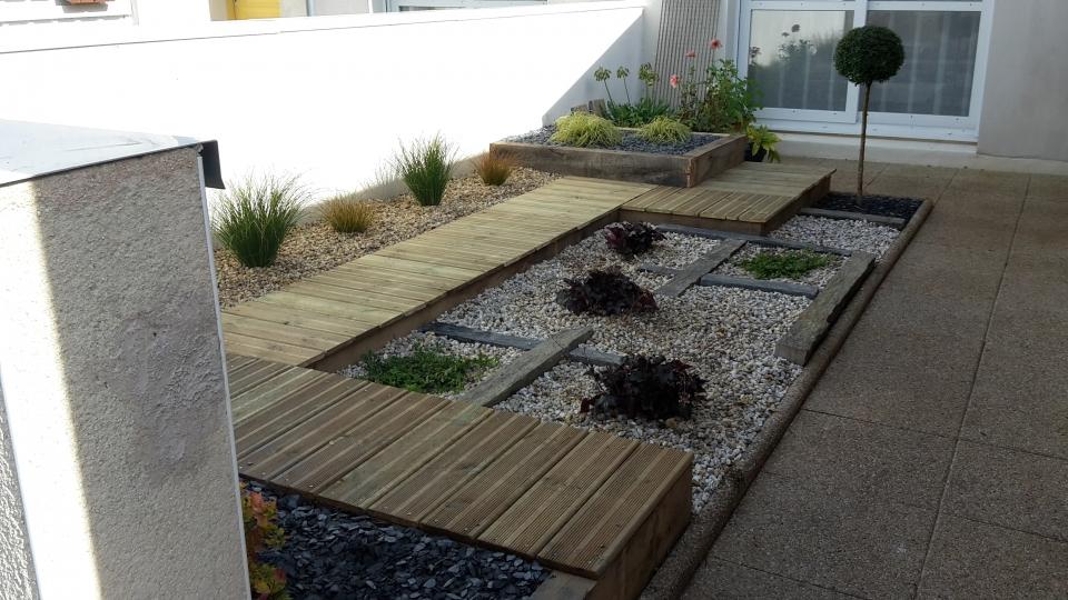 Am nagement de jardin finist re landerneau terrassement jardin bassin - Creation jardin zen ...