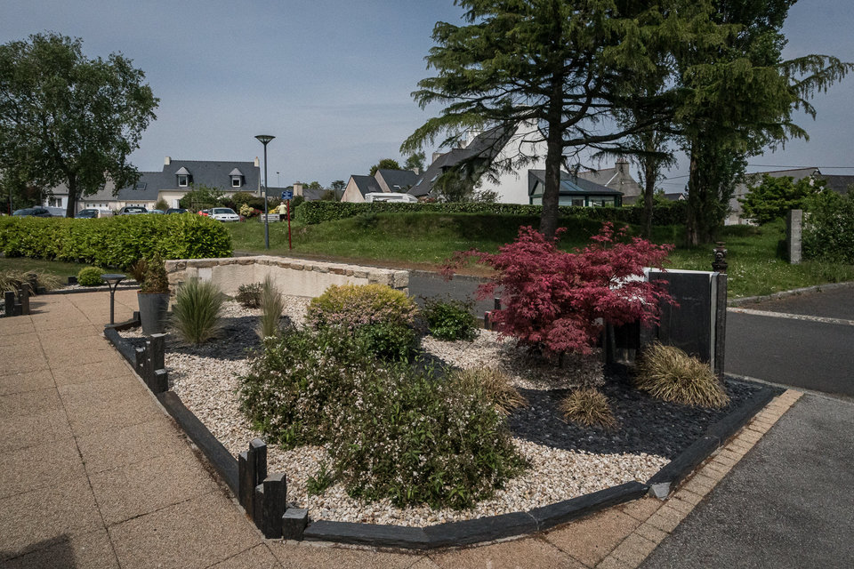 Jardin d'accueil moderne