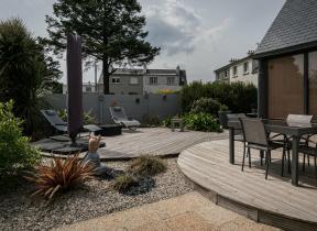 Terrasse bois arrondie